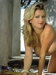 Angela Little in Shy Cowgirl Naked outside Saloon