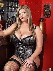 Cameron - huge titty blonde in french corset