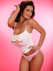 <b>Denise Milani's</b> almost too hard to fathom curves, combined with her uncanny sexiness and amazing charm make her a winner throu